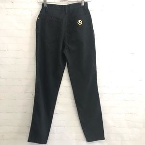 MOSCHINO Black High Waisted Jeans